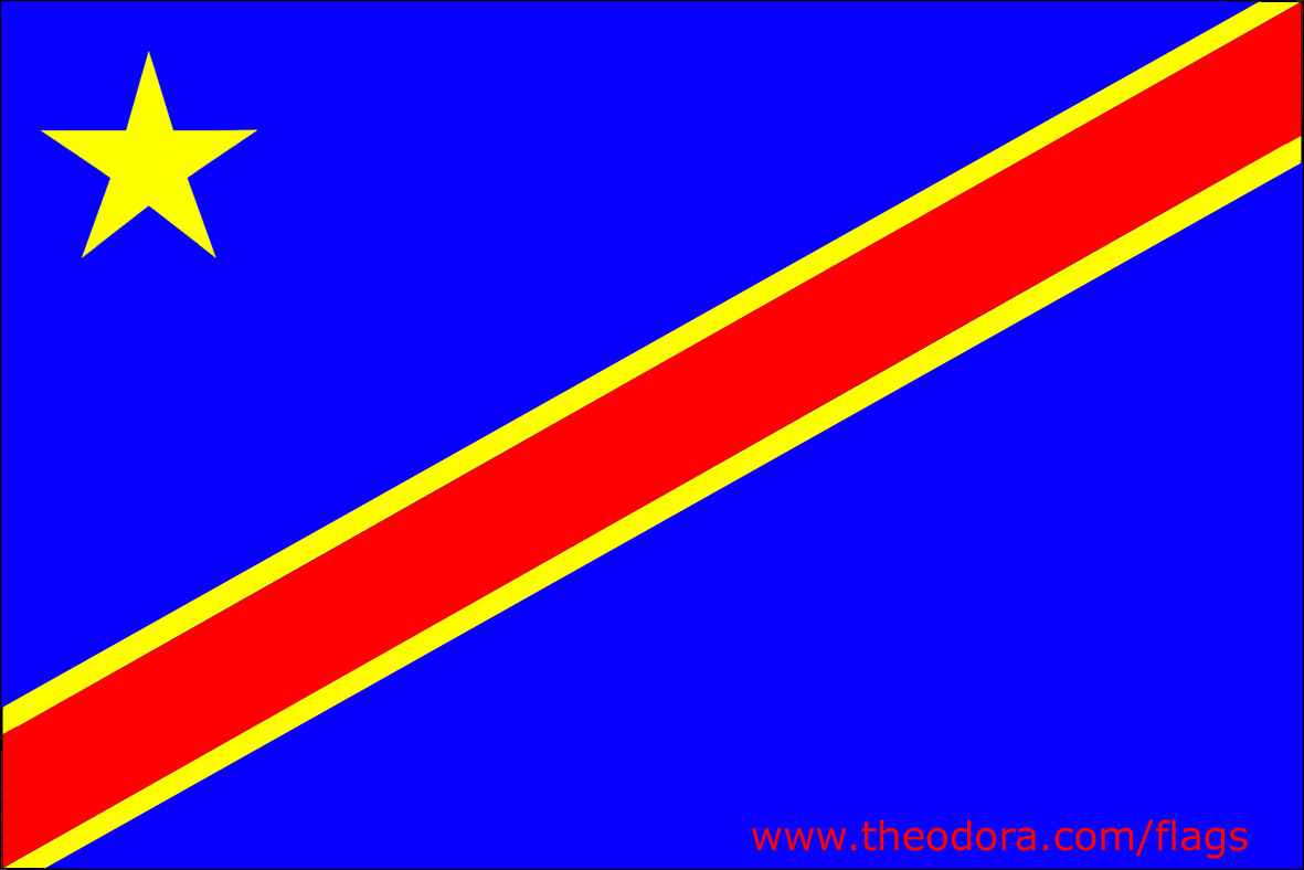 congo democratic republic flag large